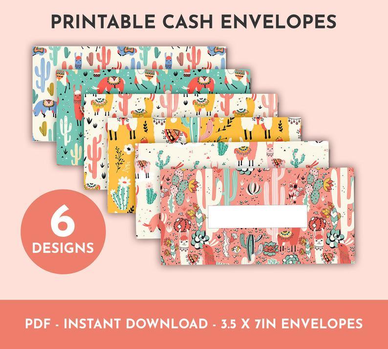 cactus-llama-cash-enevelope-printable