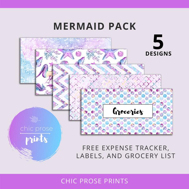 mermaid-cash-enevelope-printable