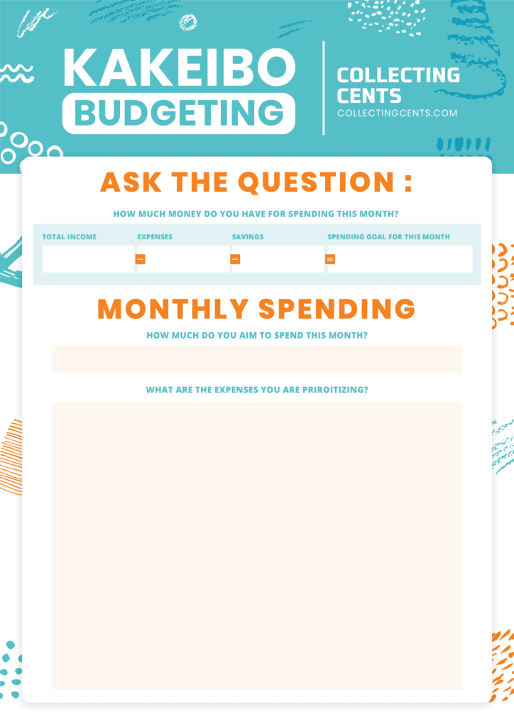kakebo budgeting method page 2