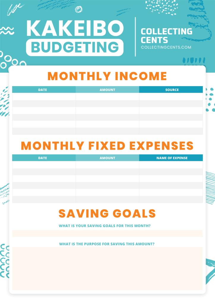 kakeibo budget method page 1