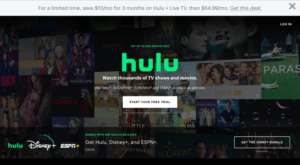 hulu stock screenshot